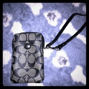 Small coach wristlet with room for all your cards